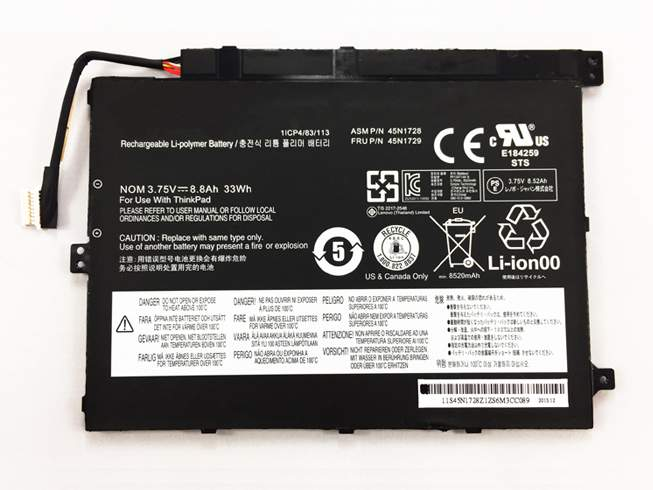 45N1727 for Lenovo ThinkPad Tablet 10