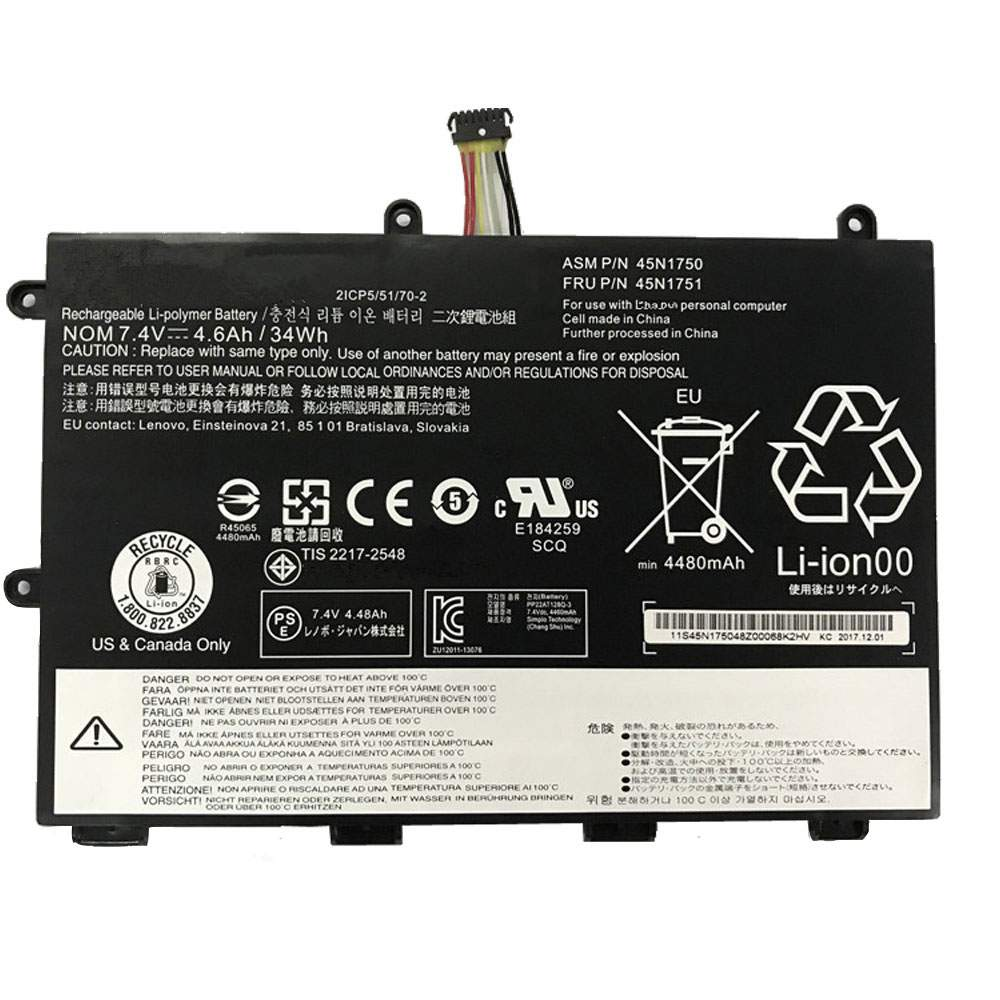 45N1750 for Lenovo ThinkPad Yoga 11e