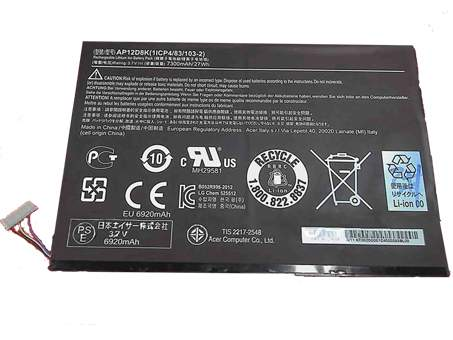 AP12D8K for Acer Iconia W510 W510P Series