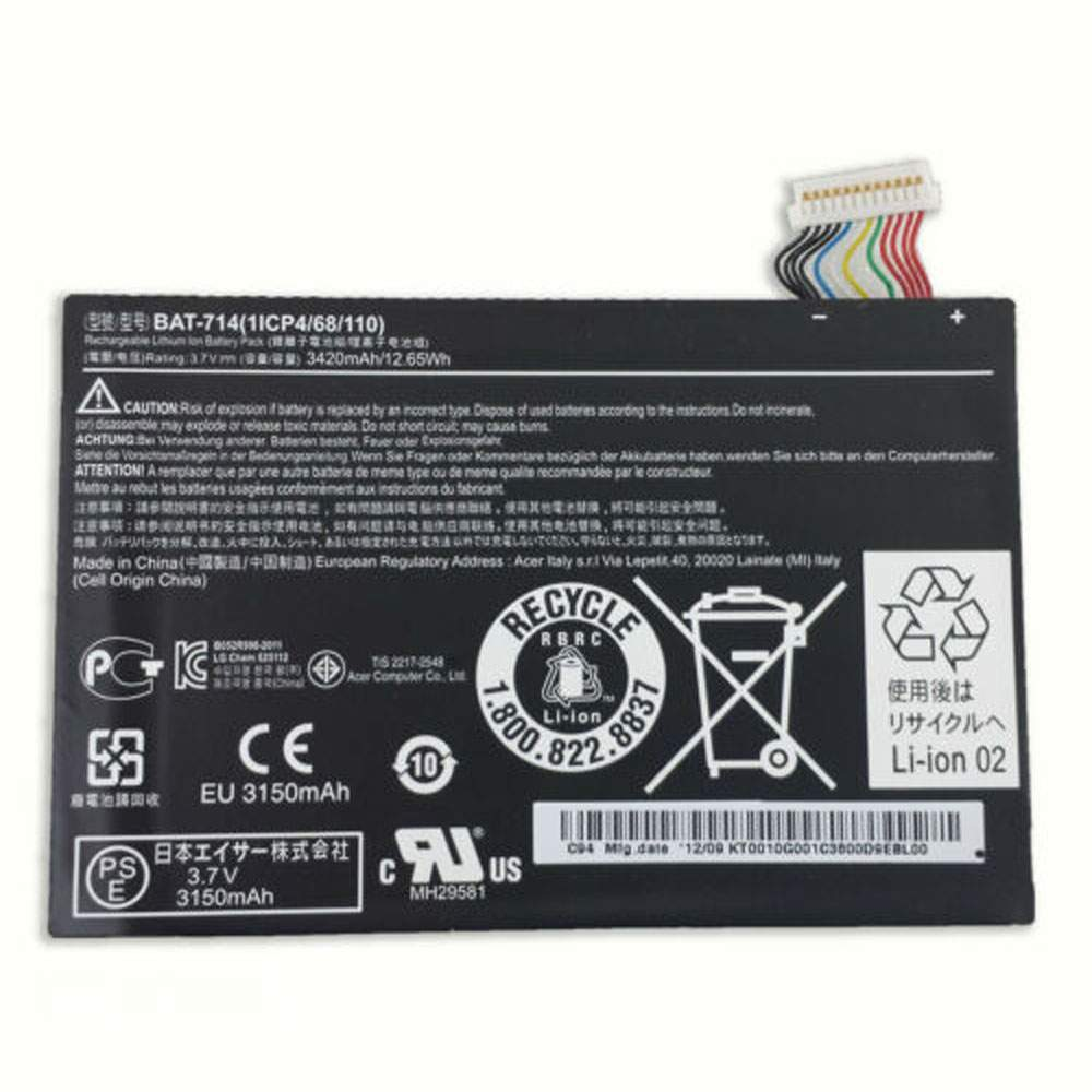 BAT-7144200JPY for Acer Iconia Tab A110 DR-A110