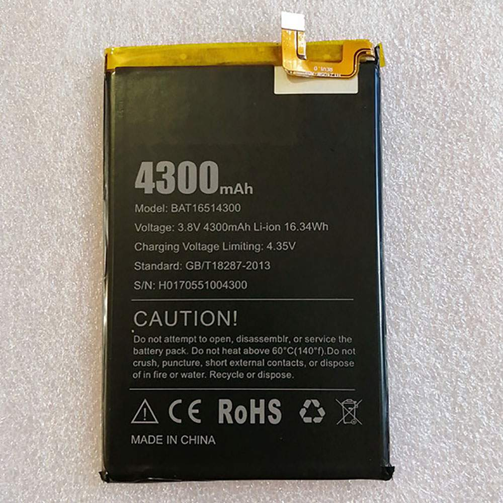 BAT16514300 for DOOGEE Y6 Max