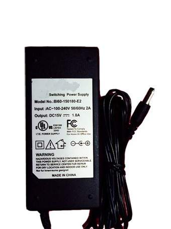 BI60-150180-E2 for MEMOREX AC Power Adapter BI60-150180-E2 15V 1.8A 27W