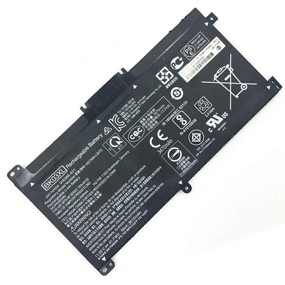 BK03XL for HP BK03XL HSTNN-UB7G TPN-W125 916366-541 916811-855 Series