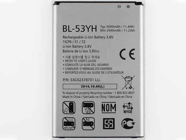 BL-53YH for LG G3 D850 D855 VS985 F400
