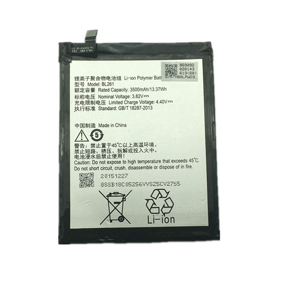BL261 for Lenovo Vibe A7020 K52t38 K52e78 K5 Note K5Note