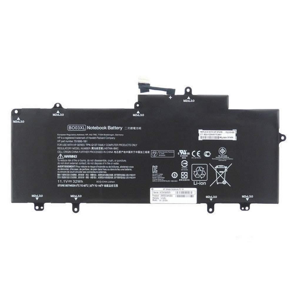 BO03XL for HP TPN-Q137 751895-1C1 752235-005 Series
