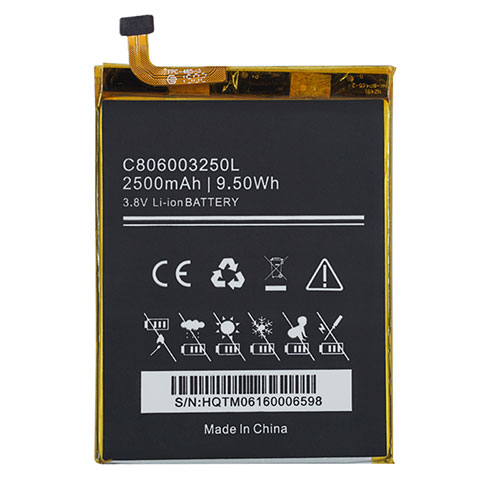 BLU C806003250L 3.8V 2500mAh/9.5WH Replacement Battery