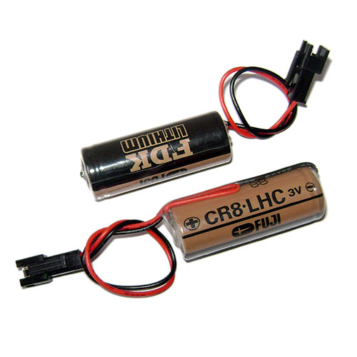 CR8.LHC for 2pcs FUJI FDK CR8.LHC  PLC Battery with black Plug