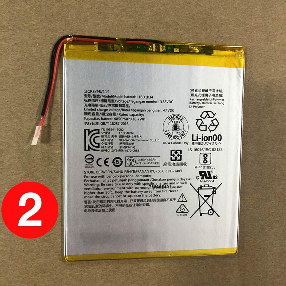 L16D1P34 for Lenovo TAB4 8 TB-8504N TAB4 8 plus 1ICP3/98/115
