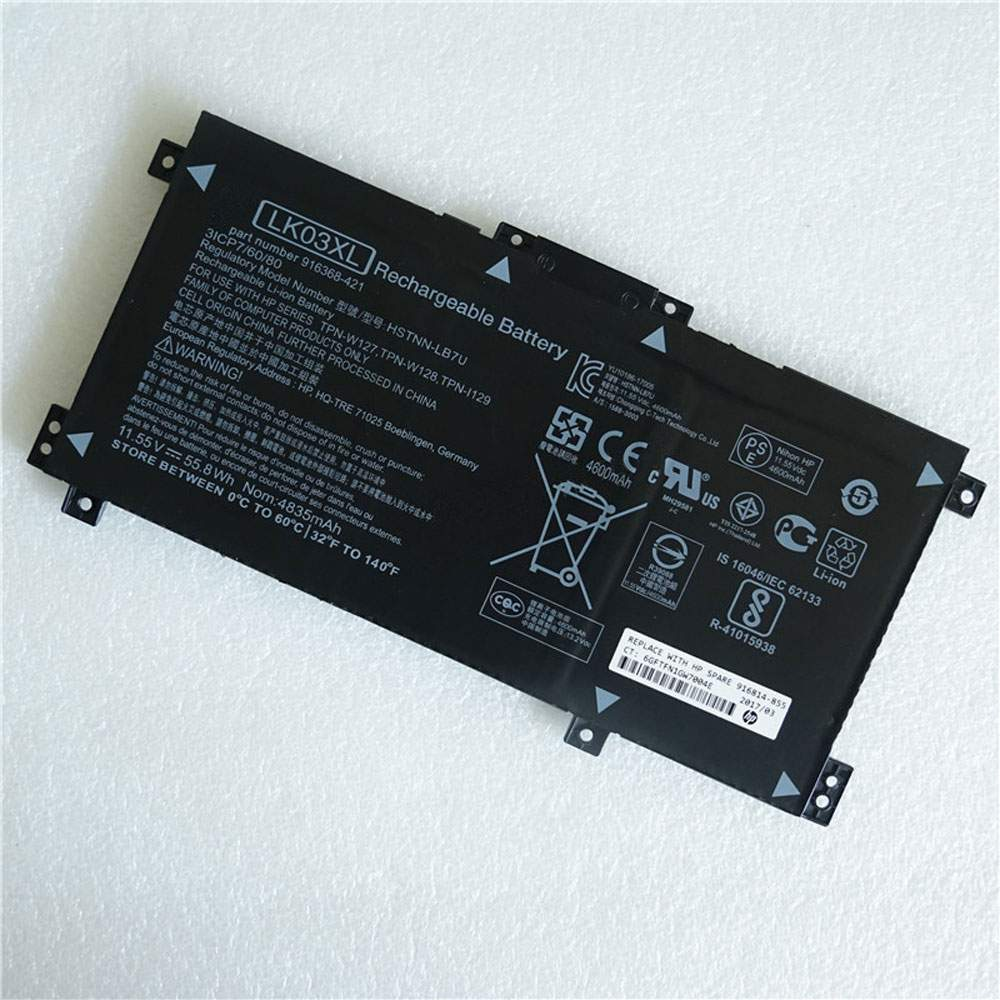 LKO3XL for HP HSTNN-LB7U TPN-W127/W128 TPN-I129 Series