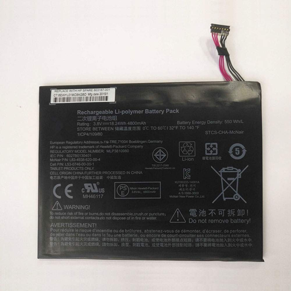 MLP3810980 for HP PRO WINDOWS TABLET 408 G1 I508O