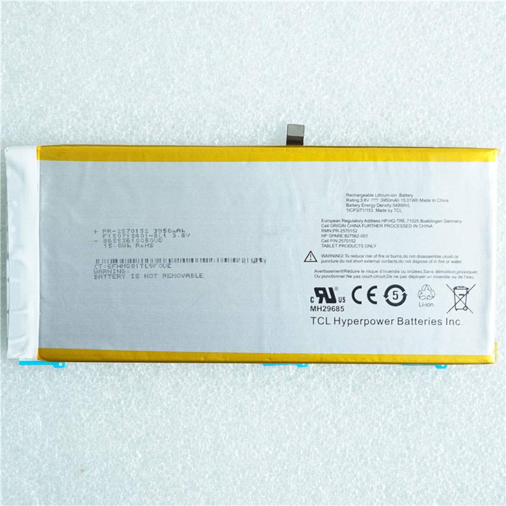 PR-2570152 for HP 827562-001 2570152 Tablet