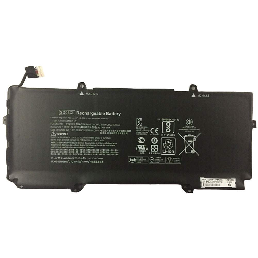 SD03XL for HP Chromebook 13 G1 Core m5