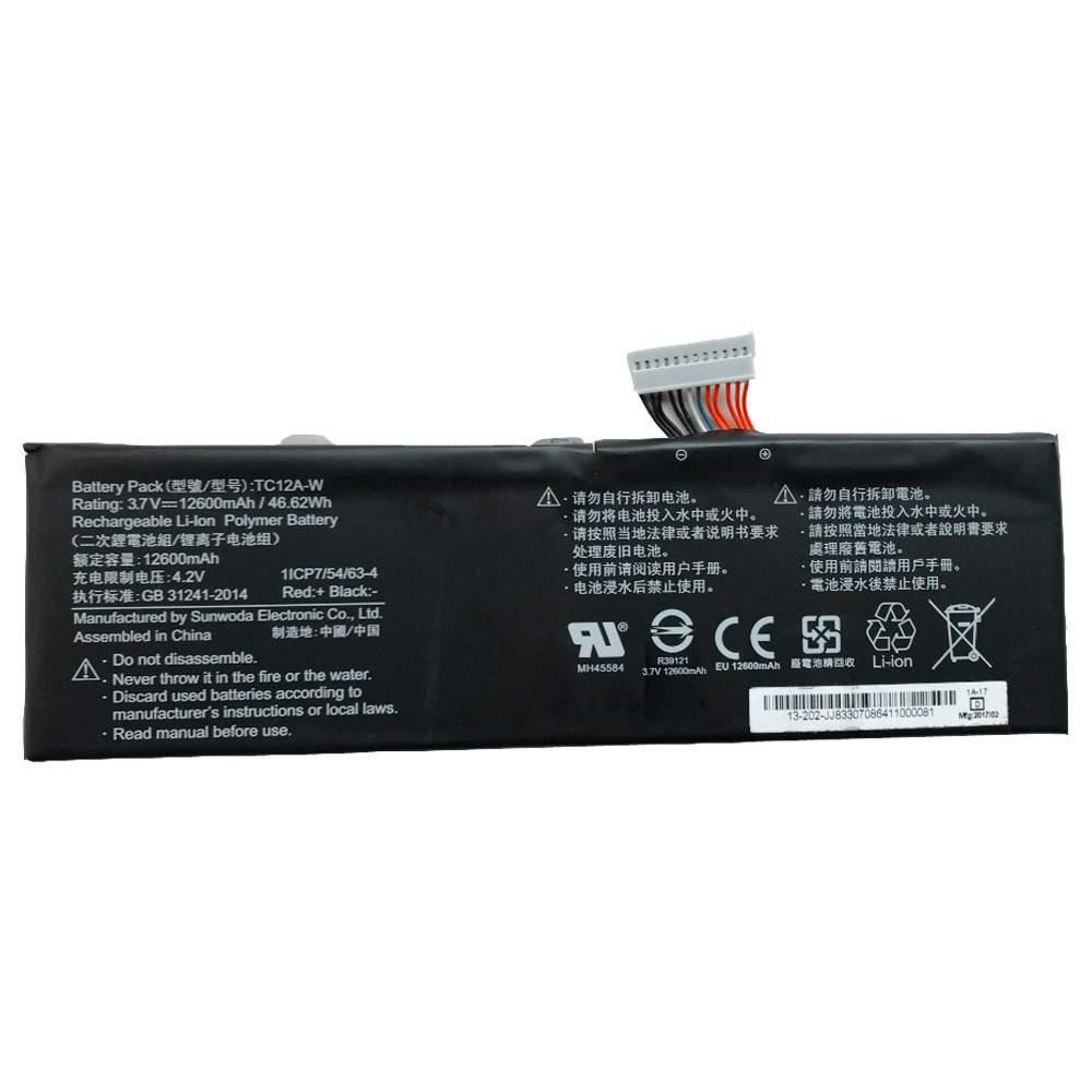 TC12A-W for Sunwoda Laptop 1ICP7/54/63-4
